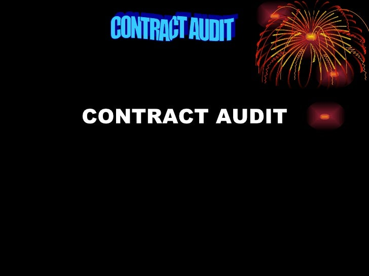 CONTRACT AUDIT CONTRACT AUDIT