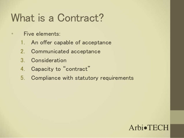five elements of a valid contract