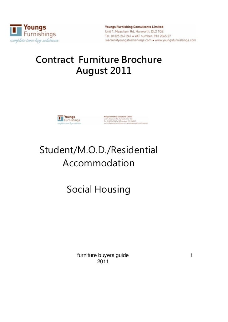 Contract Furniture Brochure        August 2011Student/M.O.D./Residential     Accommodation      Social Housing        furn...