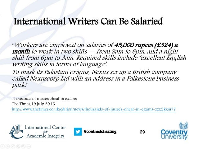 contract cheating and the essay writing industry where does the mon   29 29 contractcheating international writers
