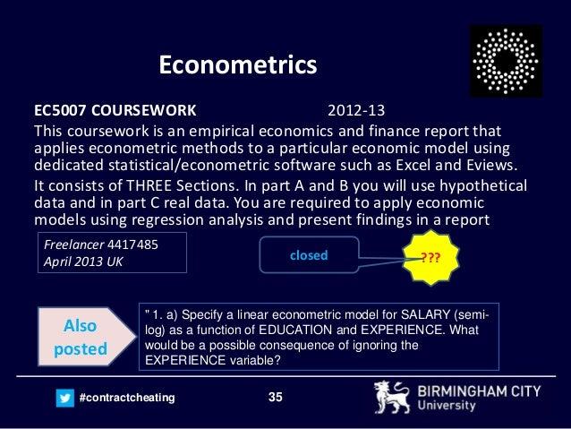 Econometrics coursework