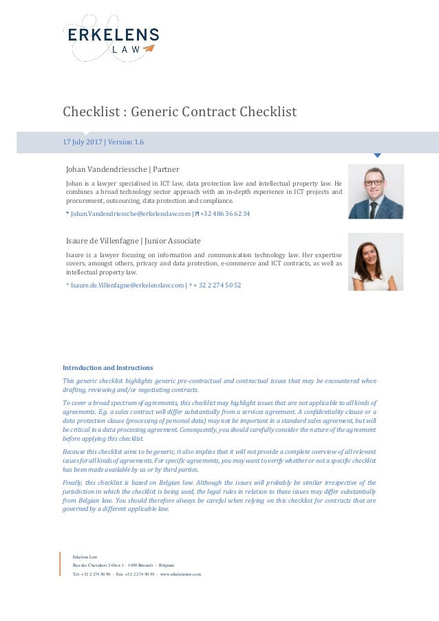 contracts essay checklist A checklist of key questions to ask as you work on your draft: does the lead grab the reader and, just as important: does the lead flow smoothly into the theme and the rest of the article.