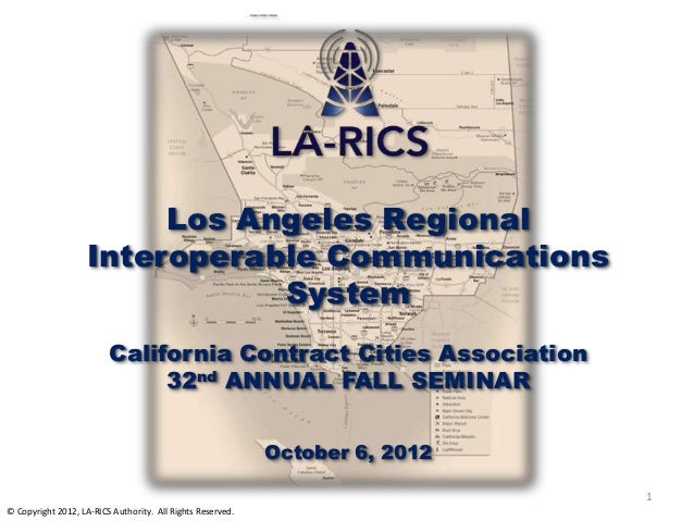 Los Angeles Regional                    Interoperable Communications                               System                 ...