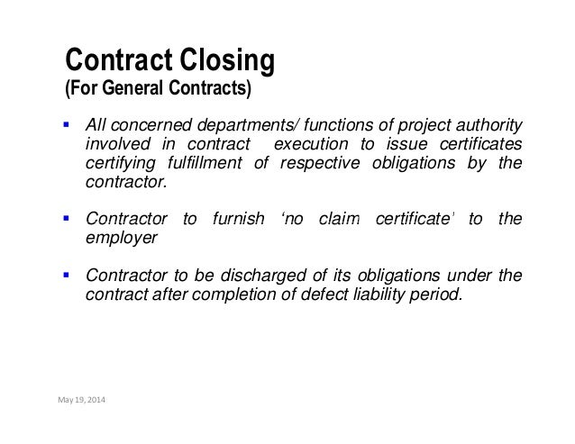 Contract closing ppt – No Dues Letter Format