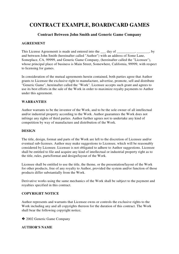 Contract example – Mutual Agreement Contract Template