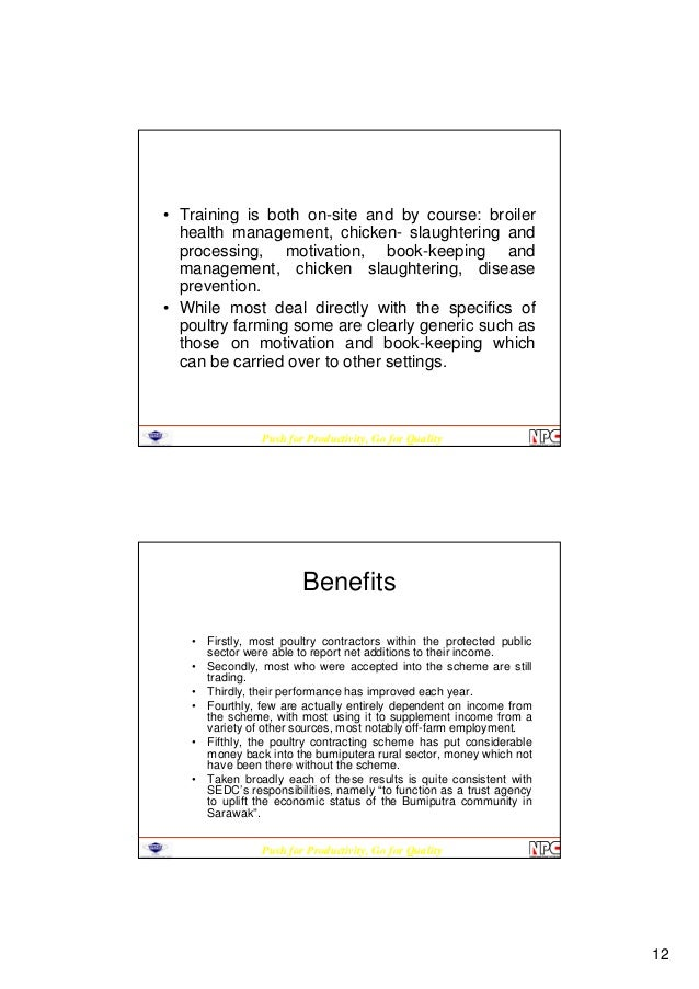 broiler contract dissertation farming Full-text paper (pdf): broiler contract farming: an assessment of affordability by growers in limpopo and north west province.