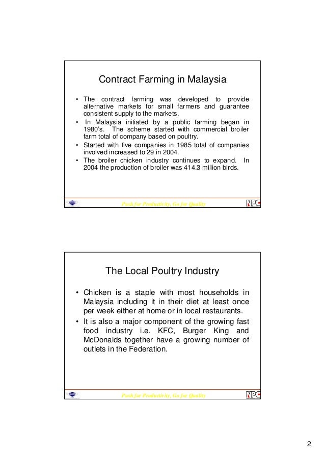 broiler contract dissertation farming The paper has analyzed production-related aspects of broiler farming under contract and independent management, and has examined inputs and services provision arrangements about two-thirds of the.