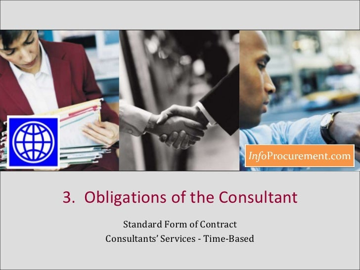 Contract For Consultancy Services Time Based B3 Obligations Of Th