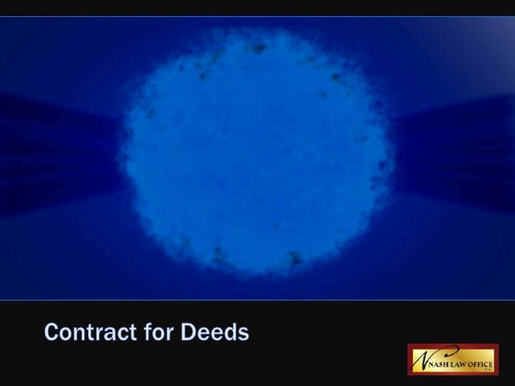 Contract for deeds