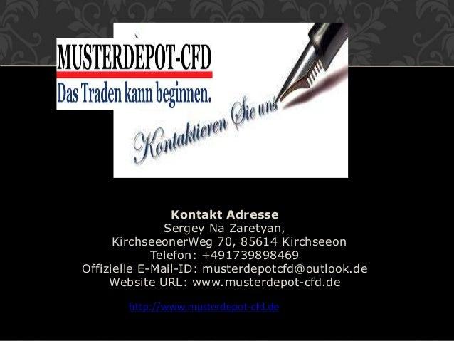 Kontakt Adresse Sergey Na Zaretyan, KirchseeonerWeg 70, 85614 Kirchseeon Telefon: +491739898469 Offizielle E-Mail-ID: must...