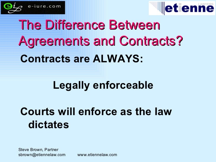 Contract How To Make An Agreement A Contract Etienne Lawyers
