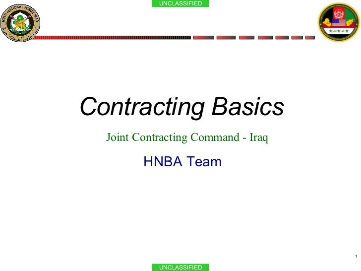 Contracting 101 091007