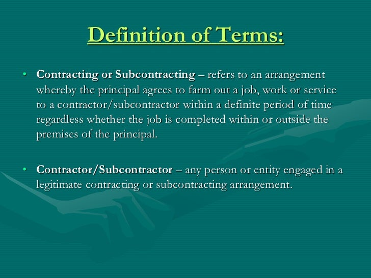 how to get subcontracting jobs