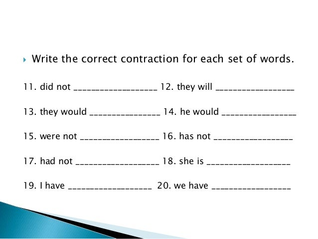 Learn English: Contractions