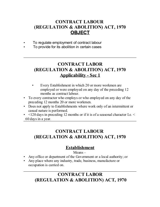 Contract labour – Casual Employment Agreement