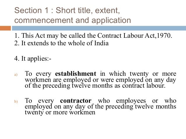 contract labour act 1970