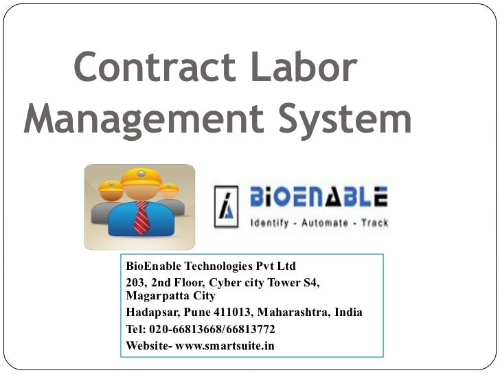 Contract Management System : Bioenable contract labor management system clms