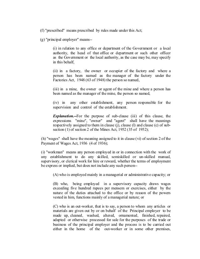 Contract Labour Regulationandabolitionact1970