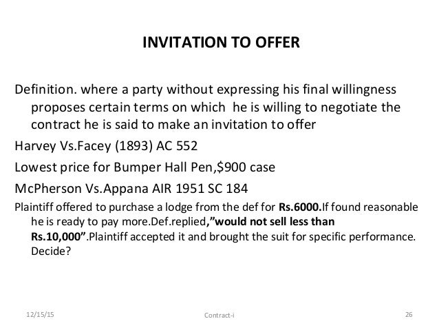 General principles of contract law invitation to offer definition stopboris Images
