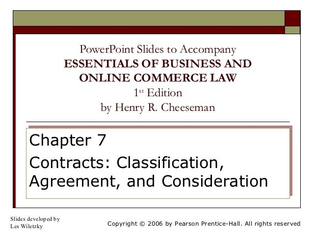 PowerPoint Slides to Accompany                      ESSENTIALS OF BUSINESS AND                        ONLINE COMMERCE LAW ...