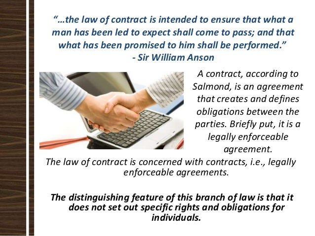 Key Features Of Contract Law