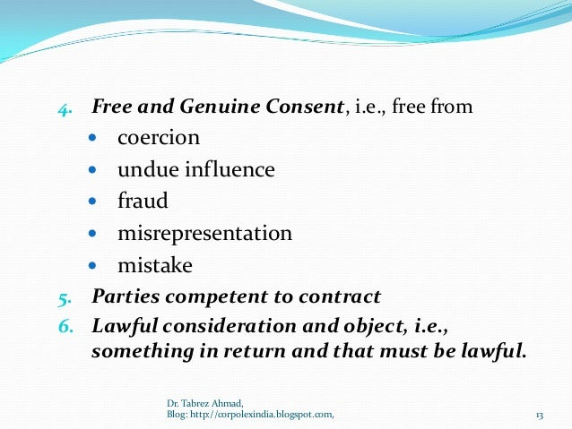 free and genuine consent