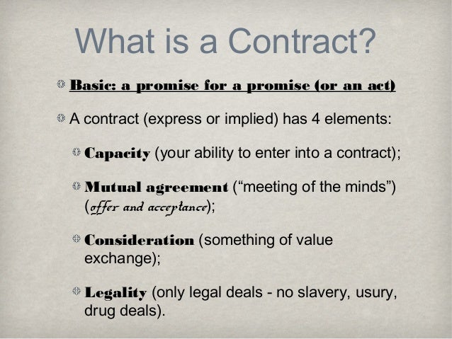 5. What Is A Contract?