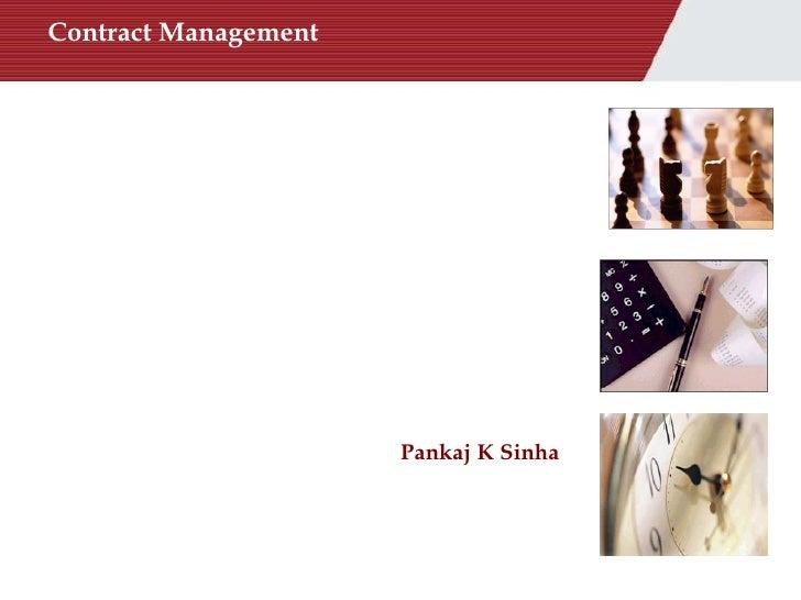 Contract Management Pankaj K Sinha