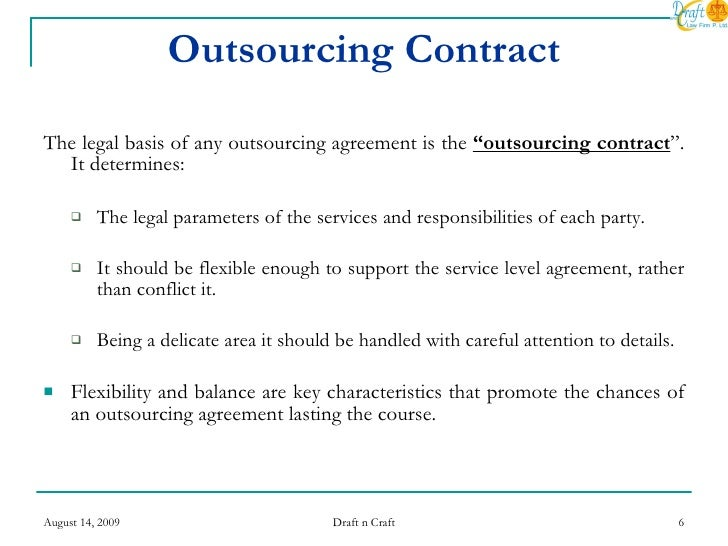 「outsourcing contract」の英語-日本語辞書