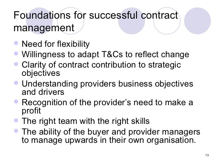 Effective Contract Management