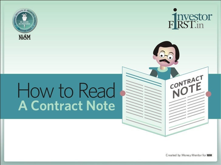 How to Read a Contract Note