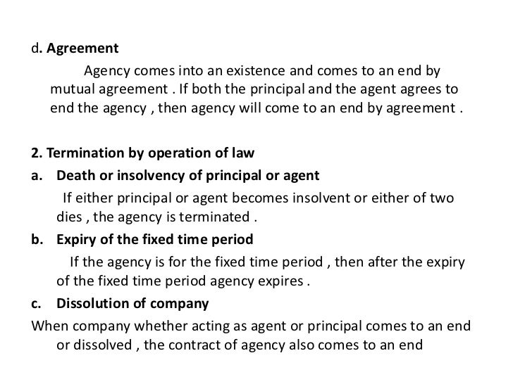 Contract of agency – Agent Contract Agreement