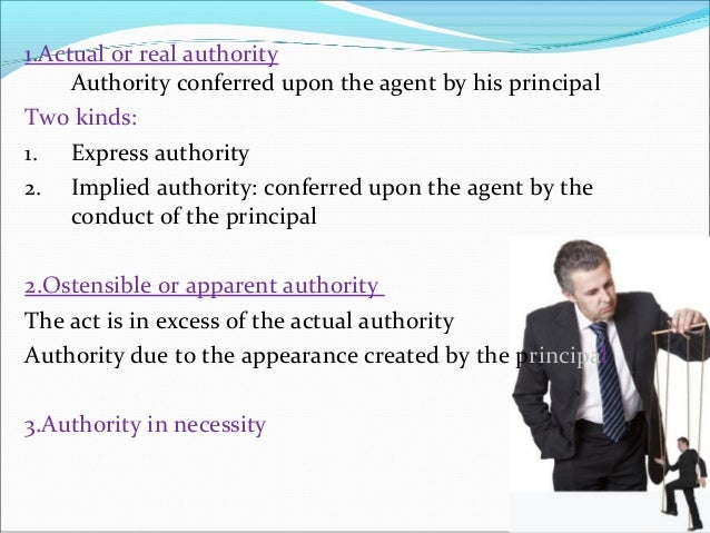 relationship between actual and apparent authority
