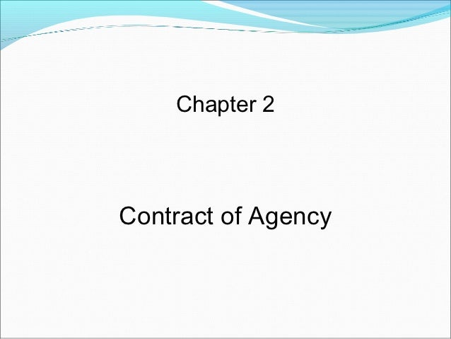 Chapter 2Contract of Agency