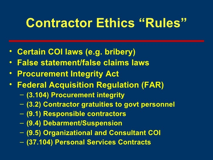 regulations and ethics 7 pages