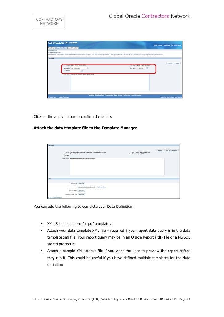 contractors network developing oracle bi xml publisher rh slideshare net xml publisher user guide for oracle r12 xml publisher bursting user guide