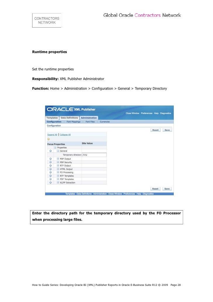 contractors network developing oracle bi xml publisher rh slideshare net xml publisher user guide oracle xml publisher enterprise user's guide