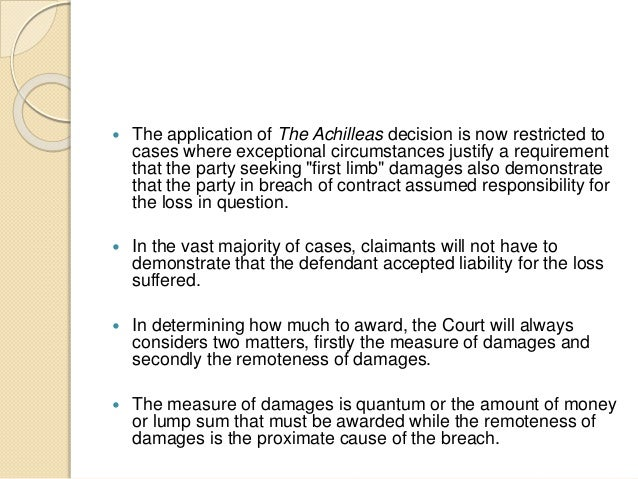 remoteness of damages The question remains how much liability can be fixed, and what factor determines it the doctrine of the remoteness of damages is one.