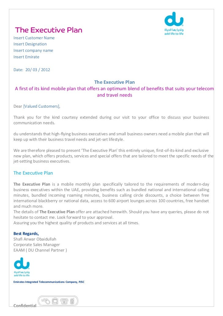 Contract Proposal_Du Business Executive Plan on