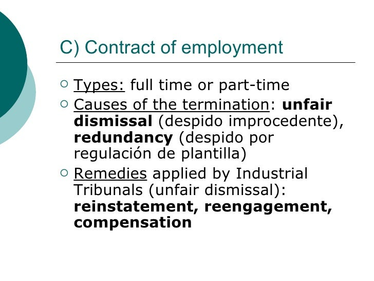 Contracts Types And Characteristics