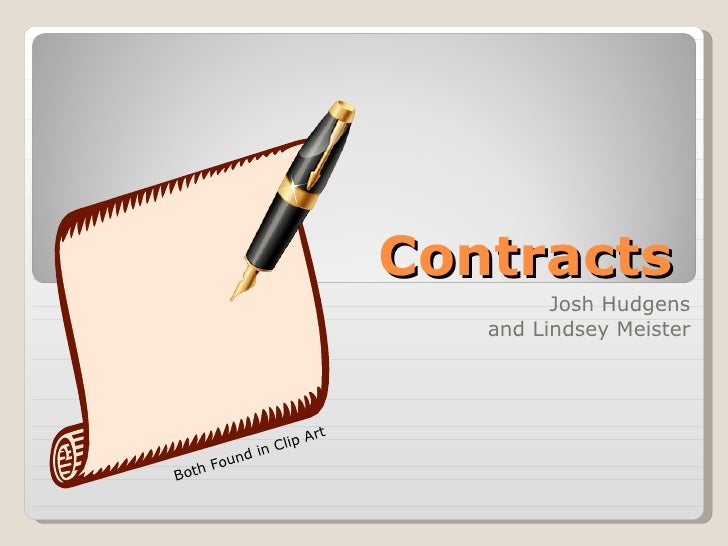 Contracts Josh Hudgens and Lindsey Meister Both Found in Clip Art