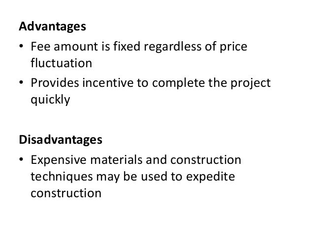 Contracts for Cost plus contract
