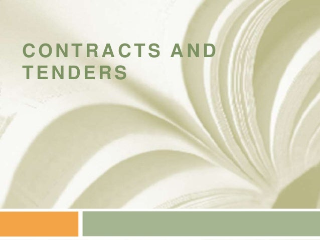 Contracts and-tenders