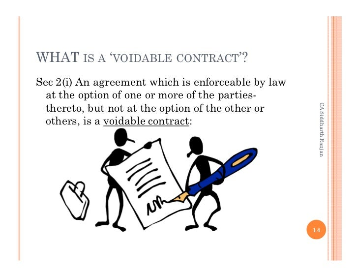 Content: Void Contract Vs Voidable Contract