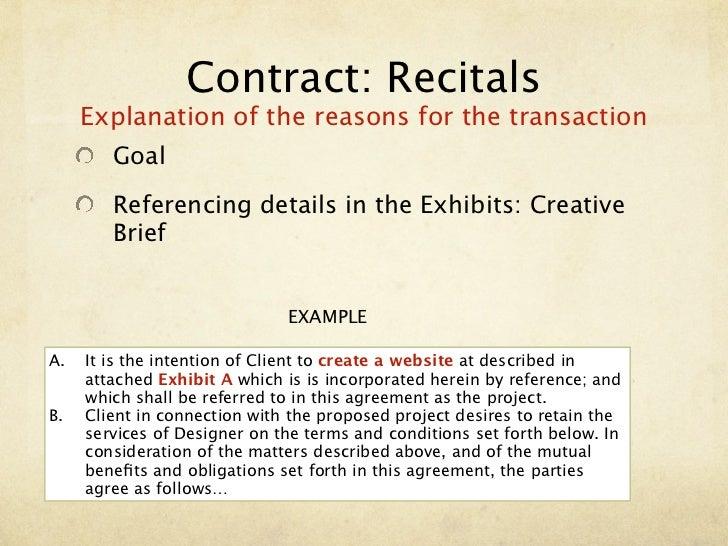 Contract Recitals Example