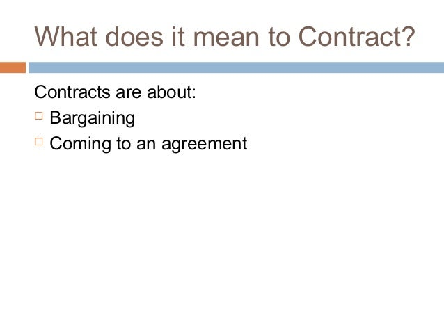 Business Law Order April 21 2014 Contracts 101