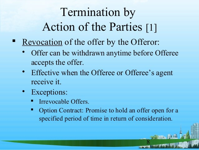 consideration revocable irrevocable offers communication of Petitioner asserts that consideration for this irrevocable  offers become revocable consideration of the  to the communication of.