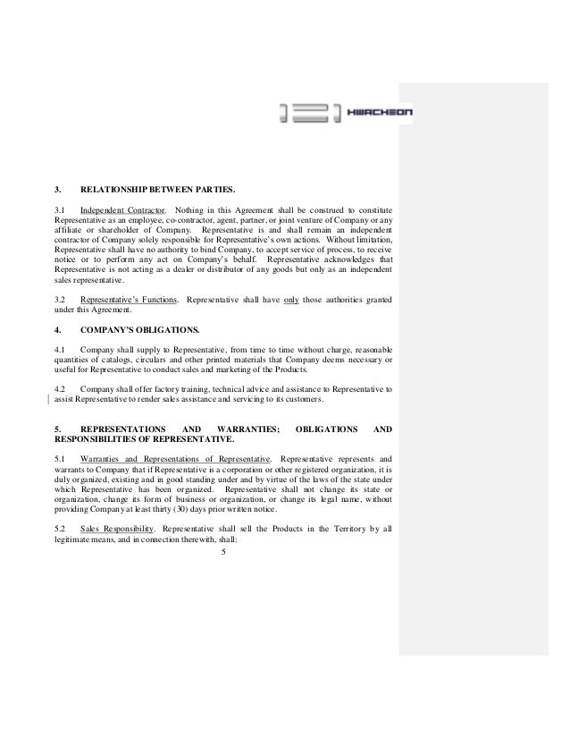Salesperson Agreement Kubreforic