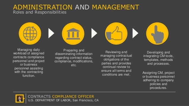 U S Department Of Labor Offcp Contracts Compliance