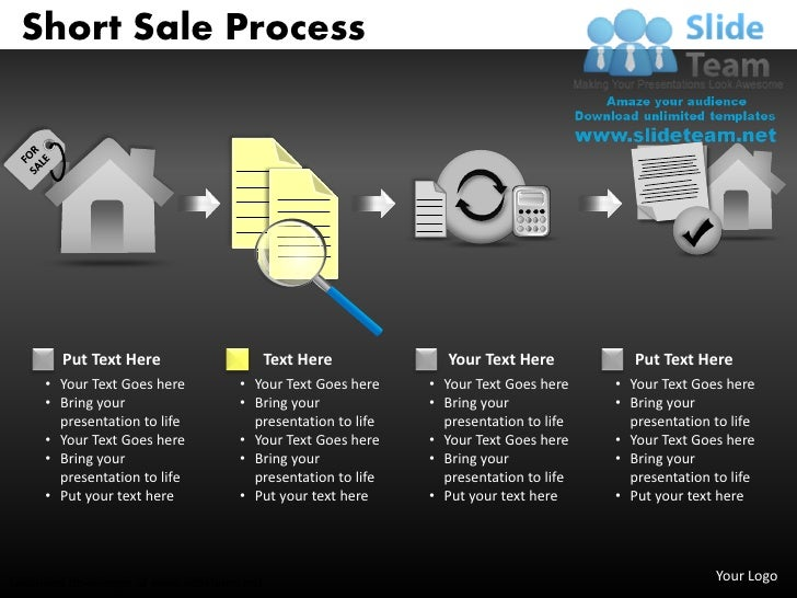 contract short sale process power point slides and ppt diagram templa